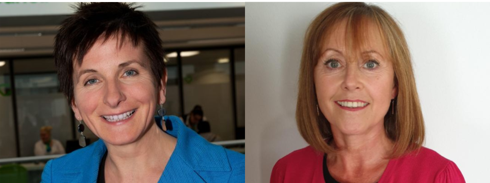 Two headshots, Donna Hall on the left and Janice Nicholson on the right