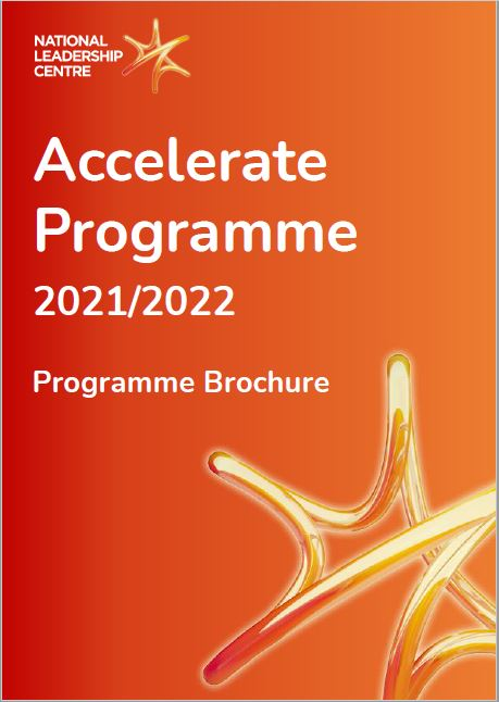 Front cover of the Accelerate Programme Brochure